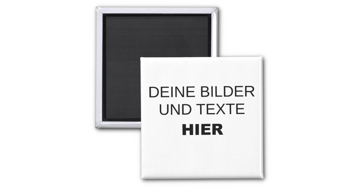 magnet komplett selbst gestalten quadratischer magnet zazzle. Black Bedroom Furniture Sets. Home Design Ideas