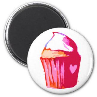 Magnet Kuchen des Herzens I Runder Magnet 5,1 Cm
