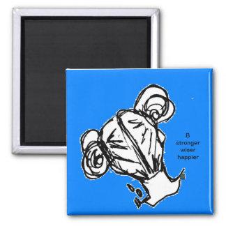 Magnet/Kühlschrank MagnetMädchen b stärkeres klüge Quadratischer Magnet