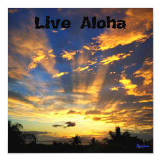 Magnet, leben Aloha, Sonnenuntergang, Maui Magnetische Karte