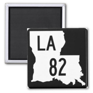 Magnet Louisianaschwarzweiss-Landstraßen-82 Quadratischer Magnet