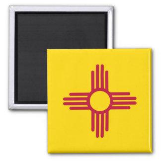 Magnet mit Flagge von New-Mexiko Staat - USA Quadratischer Magnet