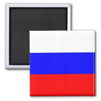 Magnet mit Flagge von Russland Quadratischer Magnet