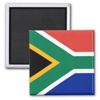 Magnet mit Flagge von Südafrika Quadratischer Magnet
