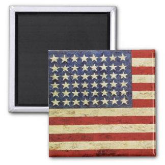 Magnet mit Patriot-Flagge von Vereinigten Staaten Quadratischer Magnet