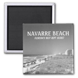 MAGNET NAVARRA-STRAND-FLORIDAS B&W QUADRATISCHER MAGNET