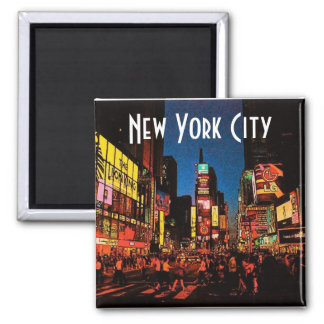 Magnet New York City (Neon) Quadratischer Magnet