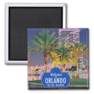 Magnet Orlandos Florida Quadratischer Magnet