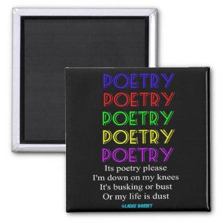 Magnet-Poesie-bitte Gedicht Quadratischer Magnet