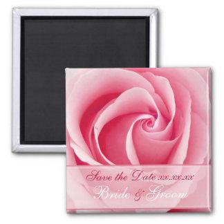 Magnet rosa Damen-Rose Save the Date Quadratischer Magnet
