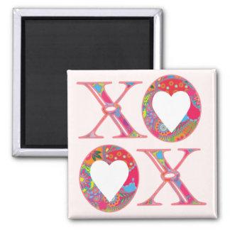 Magnet Schatz-Paisleys XOXO Quadratischer Magnet
