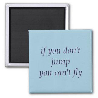 Magnet - Sprung und Fliege Quadratischer Magnet