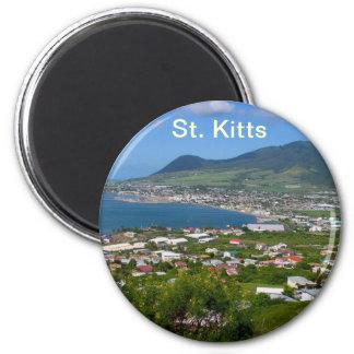 Magnet St. Kitts Runder Magnet 5,1 Cm