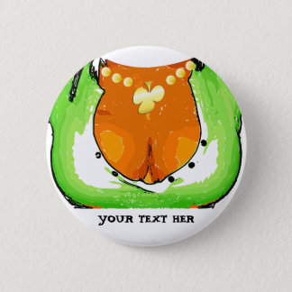 Magnet St. Patrick' s Day - Draw Girl Chest Runder Button 5,1 Cm