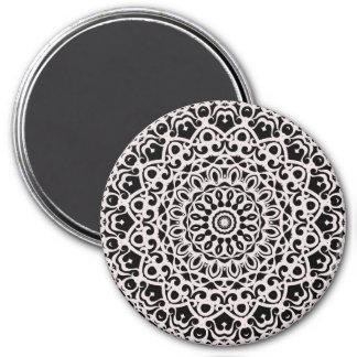 Magnet-Stammes- Mandala G385 Runder Magnet 7,6 Cm