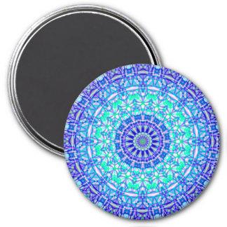 Magnet-Stammes- Mandala G389 Runder Magnet 7,6 Cm