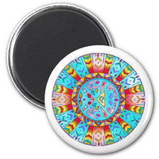 Magnet, südwestliche Ureinwohner-Mandala Runder Magnet 5,7 Cm