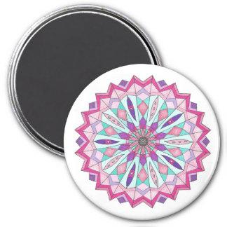 Magnet, südwestliche Ureinwohner-Mandala Runder Magnet 7,6 Cm
