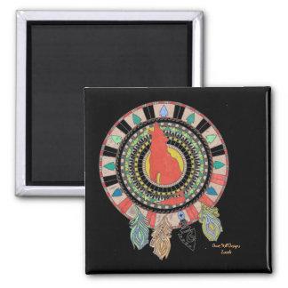 Magnet, südwestlicher amerikanischer Ureinwohner Quadratischer Magnet