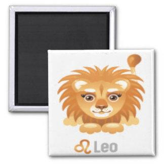 Magnet-Tierkreis 8 Löwe Quadratischer Magnet