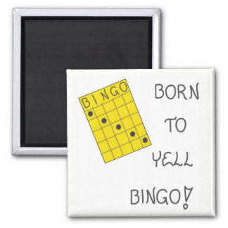 Magnet über Bingo Quadratischer Magnet