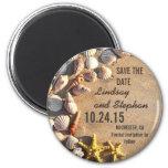 Magneten der Strandhochzeit Save the Date mit Seas Kühlschrankmagnete