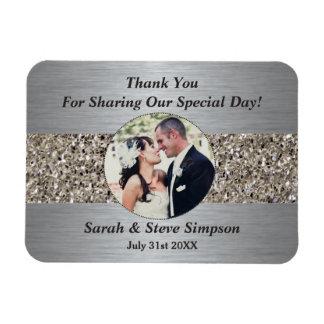 Magnetische Hochzeits-Fotografie danken Ihnen Magnet