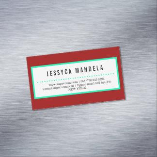 Magnetisches, hochrotes Rot Visitenkartenmagnet