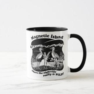 Magnetisches Inselnachtleben Tasse