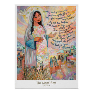 Magnificat (Canticle von Mary) katholisches Plakat