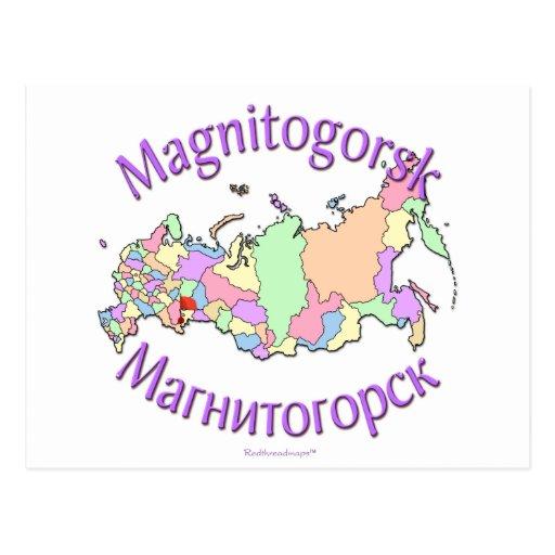 Magnitogorsk Russland Karte Postkarten