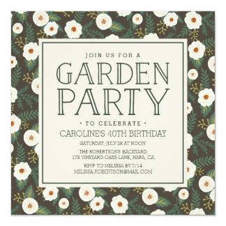 Magnolie blüht Garten-Party Einladung
