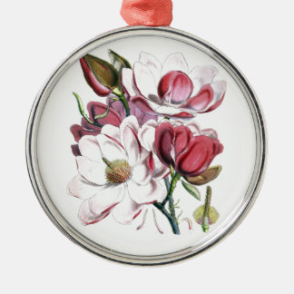 Magnolie Campbellii Silbernes Ornament