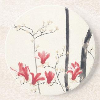 Magnolien-Baum durch Kobayashi Kokei, Vintage Sandstein Untersetzer
