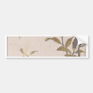 Magnolien-Blumen - Kubo Shunman (japanisch) Autoaufkleber