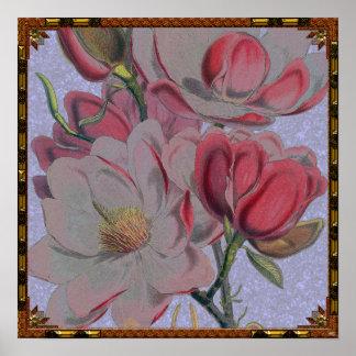 Magnolien-Blumen-Plakat