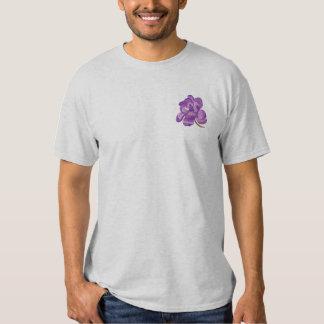 Magnolien-Blüte Besticktes T-Shirt