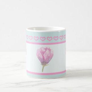 Magnolien-Blüte in der Wasserfarbe Kaffeetasse