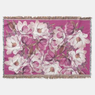 Magnolien-Blüten-BlumenBlumenthrow-Decke Decke