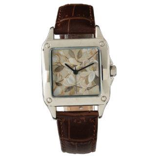 Magnolien-Einfachheits-Creme Uhr