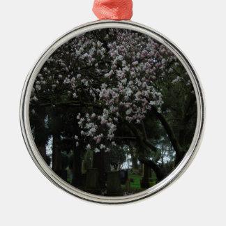 Magnolien für immer silbernes ornament