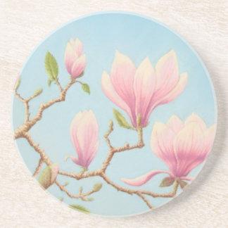 Magnolien im Blüte Wisley Sandstein Untersetzer