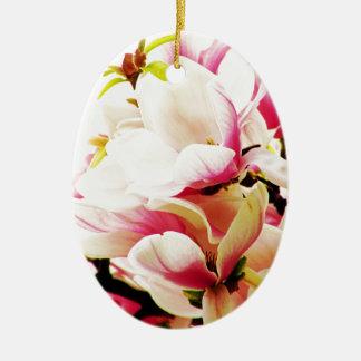Magnolien in der Sonne Keramik Ornament