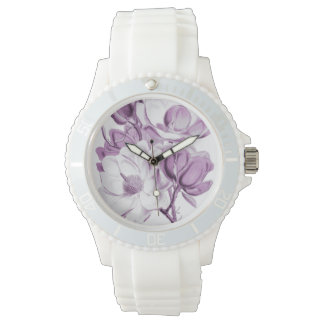 Magnolien-lila Traum Armbanduhr