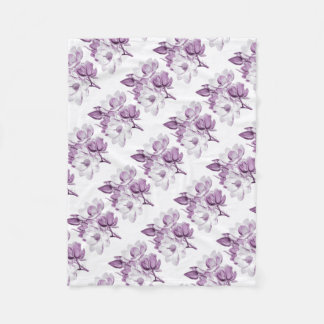 Magnolien-lila Traum Fleecedecke