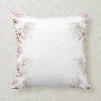 Magnolien-Weiß-Kissen Kissen