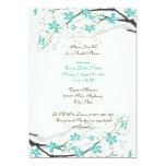 Magnolienniederlassungstürkis-Brautpartyeinladung Personalisierte Ankündigungskarte