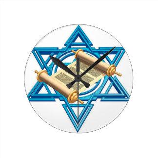 Maguen David Torah Runde Wanduhr