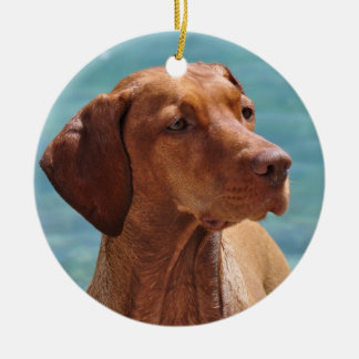 Magyar Vizsla Hund Keramik Ornament