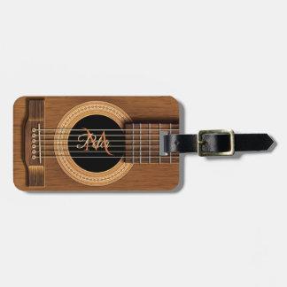 Mahagoniakustikgitarre-personalisierter Gepäckanhänger